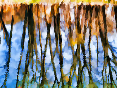 Shed Mixed Media - Pond Reflections by Vicki McLead