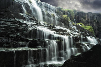 Waterfall Photograph - Pongour Falls 1 by Alan Kepler