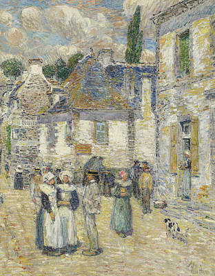 Pont-aven Print by Childe Hassam