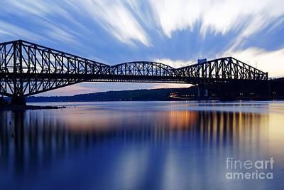St. Laurent Photograph - Pont De Quebec Sunset by Colin Woods