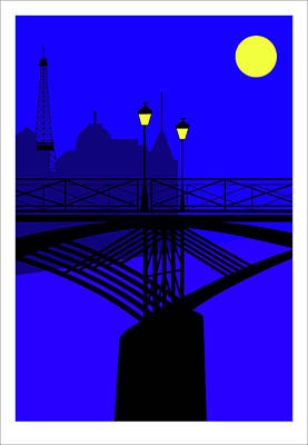 Digital Art - Pont Des Arts Paris by Asbjorn Lonvig