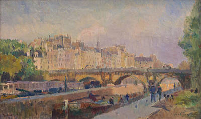 Clouds Painting - Pont Neuf by Celestial Images