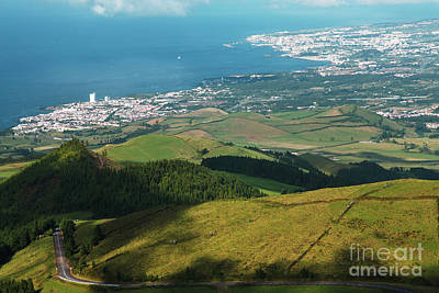 Ponta Delgada And Lagoa Print by Gaspar Avila