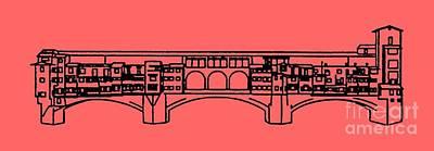 Ponte Vecchio Florence Tee Print by Edward Fielding