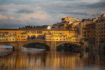 Ponte Vecchio Reflection Print by Chris Fletcher