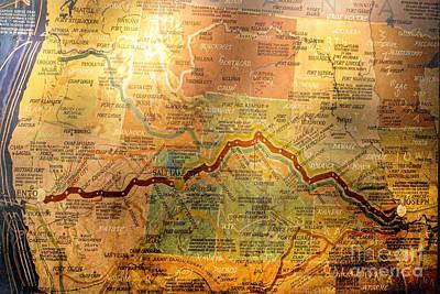 Pony Express Trail Map Original by Linda Phelps