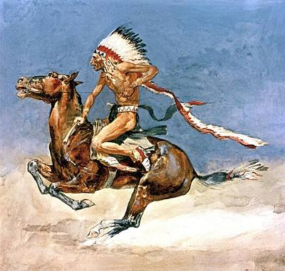Indian Warrior Digital Art - Pony War Dance by Frederic Remington