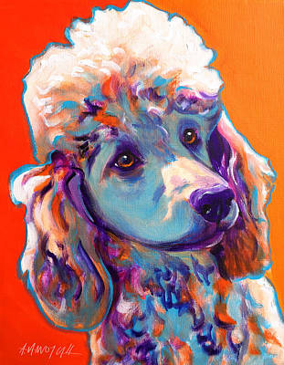 Poodle - Bonnie Print by Alicia VanNoy Call