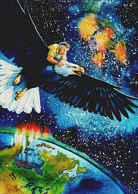 Cosmic Painting - Pooka Hill 5 by Hanne Lore Koehler