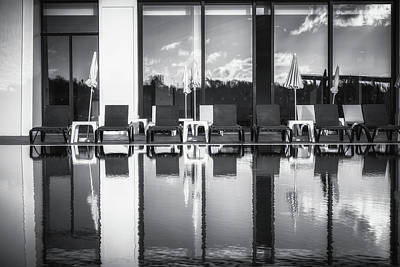 Porto Photograph - Pool Reflections by Chris Fletcher