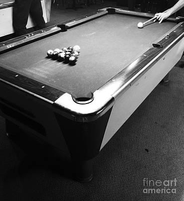 Billiards Hall Digital Art - Pool Table by Venus