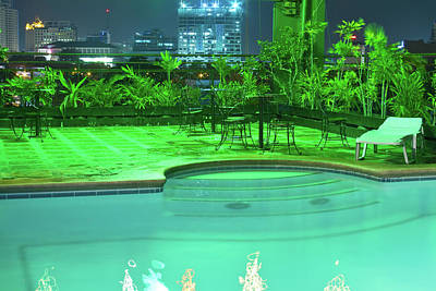Pool With City Lights Print by James BO  Insogna