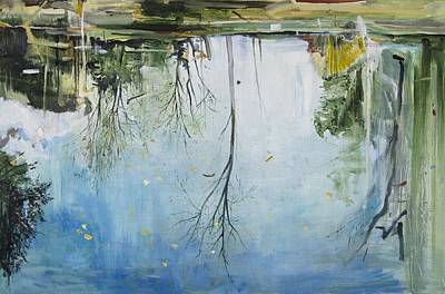 Inverted Painting - Pool  Zurich by Calum McClure