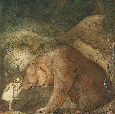 Troll Painting - Poor Little Basse by John Bauer
