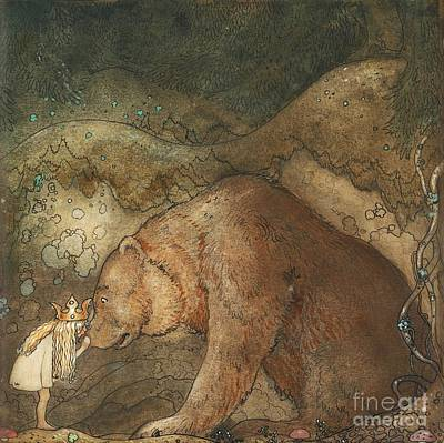 Poor Little Bear Print by Celestial Images