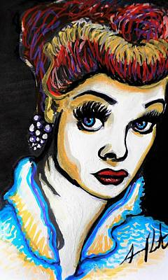 Painting - Pop Art Lucy by Armando Renteria