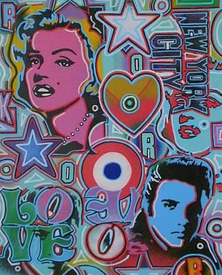 Pop Art Mix Number 1 Print by Leon Keay