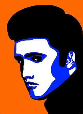 Pop Art Of Elvis Presley Print by Nikita Ryazanow
