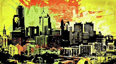 Uptown Downtown Mixed Media - Pop City 1 by Melissa Smith