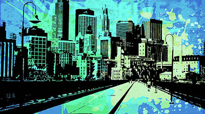 Uptown Downtown Mixed Media - Pop City 2 by Melissa Smith