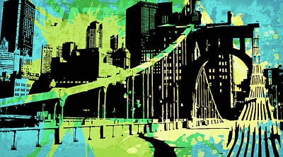 Uptown Downtown Mixed Media - Pop City 3 by Melissa Smith