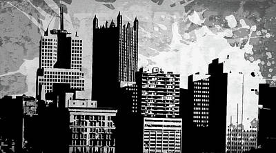 Uptown Downtown Mixed Media - Pop City 36 by Melissa Smith
