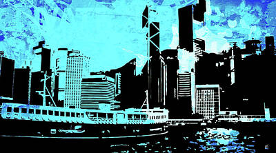 Uptown Downtown Mixed Media - Pop City 5 by Melissa Smith