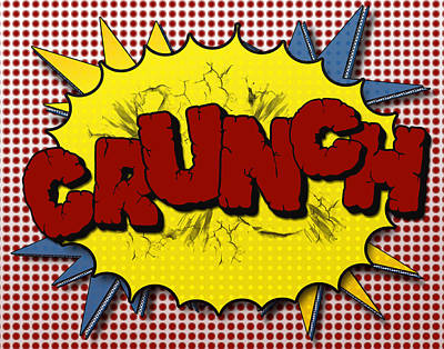 Comic Books Digital Art - Pop Crunch by Suzanne Barber