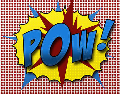Comic Books Digital Art - Pop Pow by Suzanne Barber