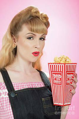 Popcorn Print by Amanda And Christopher Elwell