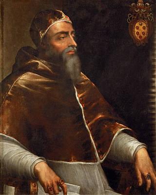 Sebastiano Del Piombo Painting - Pope Clement Vii. Giulio De' Medici by Workshop of Sebastiano del Piombo