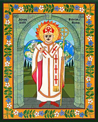 Pope John Xxiii Icon Print by David Raber
