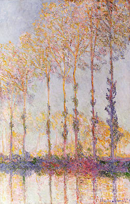 Poplars On The Banks Of The Epte Print by Claude Monet