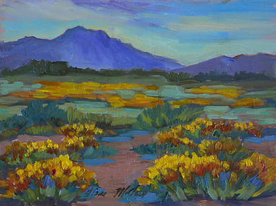 Sonoran Desert Painting - Poppies At San Carlos by Diane McClary
