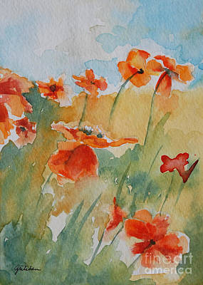 Poppies Field Painting - Poppies by Gretchen Bjornson