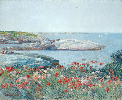 Childe Hassam Painting - Poppies. Isles Of Shoals by Childe Hassam
