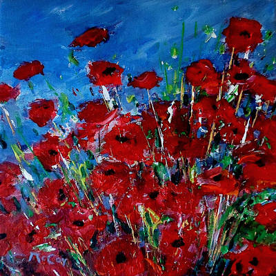 Painting - Poppies by K McCoy