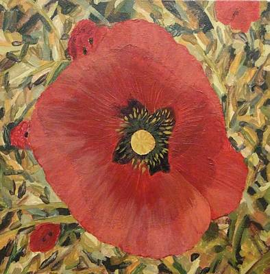 Ca Poppies Painting - Poppies by Ngoc Luu