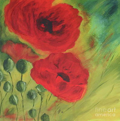 Enjoyment Mixed Media - Poppies On Your Mind  by Christiane Schulze Art And Photography