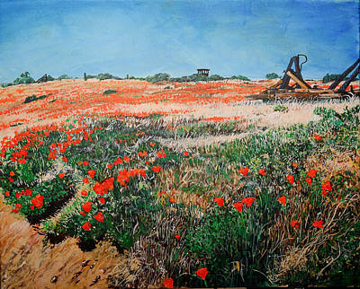 Ca Poppies Painting - Poppies by Richard Garingalao