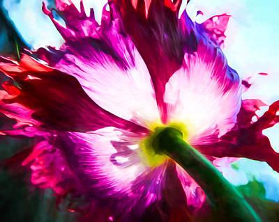 Lettuce Mixed Media - Poppy Art - A Drama Queen by Priya Ghose