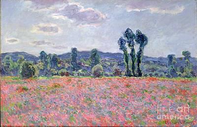 Poppy Field Painting - Poppy Field by Claude Monet