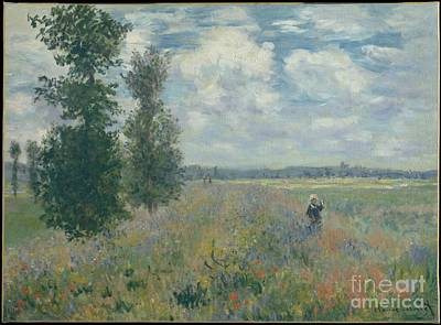 Field Painting - Poppy Fields Near Argenteuil by Celestial Images