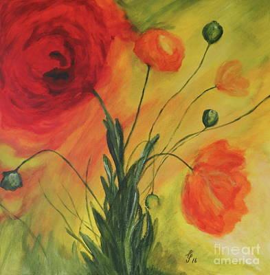 Enjoyment Mixed Media -  Poppy Garden by Christiane Schulze Art And Photography