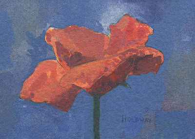 Painting - Poppy by John Holdway