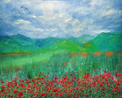 Poppy Meadows Print by Georgiana Romanovna