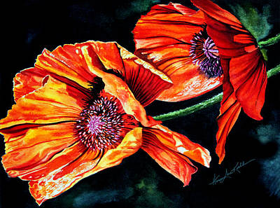 Poppy Passion Print by Hanne Lore Koehler