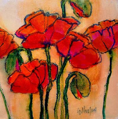 Fushia Painting - Poppy Sketch by Carol  Nelson