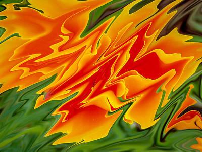 Unreal Digital Art - Poppy Starburst by Michele James