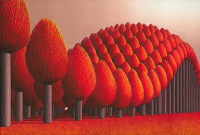 Rural Art Painting - Populus Flucta by Patricia Van Lubeck